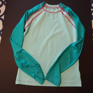 Womens L Columbia long sleeve active top teal pink